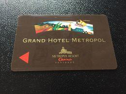 Hotelkarte Clef De Hotel Tarjeta Hotel Room Key  GRAND HOTEL METROPOL PORTOROZ SLOVENJA - Phonecards