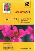 Deutschland Markenset - Blumen, Wildgladiole , Flowers - Folienblatt Ohne Marken - [7] Federal Republic