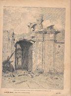 Porta San Pancrazio Battuta Dalle Artiglierie Francesi. Stampa 1891 - Documentos Antiguos