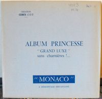 CERES - Jeu PRINCESSE/MONACO PREO/TAXES 1989/1991 (REF. MSP 3) - Pre-printed Pages