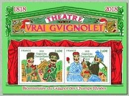 """France 2018 - Yv N° F5216 ** - Bloc """"Bicentenaire Du Guignol Des Champs-Élysées"""" (timbres 516 & 5217) Mi N° 7001/2 - France"""