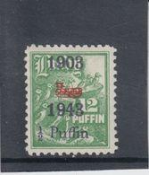 #147 Great Britain Lundy Puffin Stamp 1943 Wright Brothers Bi-Plane Cat #57 Mint - Emissione Locali