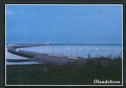 Ölandsbron - The Öland Bridge Van Kalmar Tot Färjestaden - Not  Used  See The 2 Scans For Condition. (Originalscan !!! ) - Suède