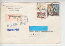 PORTOGALLO 1980 - Raccomandata Per Italia  - Unificato 1467 - Lettres & Documents