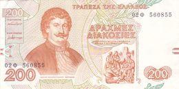 BILLET GRECE 200 DRACHMES De 1996 - Pick 204 - TTB +  Velestinlis Feraios - Grèce