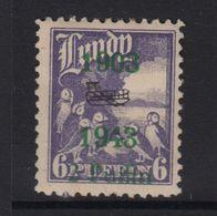 #33 Great Britain Lundy Island Puffin Stamp 1943 Wright Brothers Bi-Plane #60 MM - Emissione Locali
