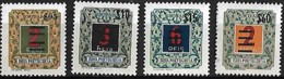 India Portuguesa 1959 Selos De Porteado Com Sobretaxa, 4 Val Mnh (incompleto) - Inde Portugaise