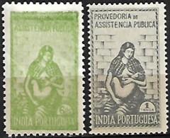 India Portuguesa 1948-1952 Provedoria De Assistência Pública, 2 Val MH - Inde Portugaise