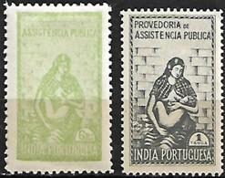 India Portuguesa 1948-1952 Provedoria De Assistência Pública, 1 Val MH + 1 Val MNH - Inde Portugaise