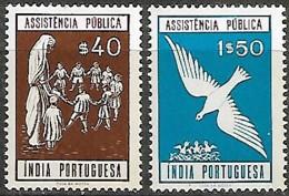 India Portuguesa 1961 Provedoria De Assistência Pública (*), 2 Val MNH - Inde Portugaise