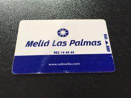Hotelkarte Clef De Hotel Tarjeta Hotel Room Key  HOTEL MELIA LAS PALMAS  CASINO GRAN CANARIA - Phonecards
