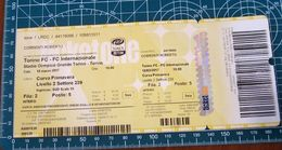 TORINO FC - FC INTERNAZIONALE STADIO OLIMPICO 18 MARZO 2017 BIGLIETTO TICKET - Eintrittskarten
