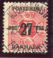 DENMARK 1918 Surcharge 27 Øre On 7 Øre With Crown Watermark, Used. Michel 86X - Used Stamps