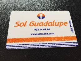 Hotelkarte Clef De Hotel Tarjeta Hotel Room Key  HOTEL SOL GUADELUPE  CASINO MALLORCA - Phonecards
