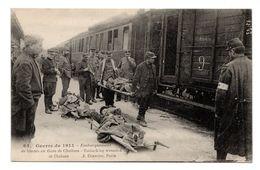 Embarquement Des Blessés En Gare De Chalons Cachet Hôpital Temporaire De Vichy Circulé En Franchise Militaire. - Guerre 1914-18