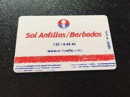 Hotelkarte Clef De Hotel Tarjeta Hotel Room Key  HOTEL SOL ANTILLAS BARBADOS  CASINO MALLORCA - Phonecards