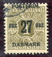 DENMARK 1918 Surcharge 27 Øre On 1 Øre With Crown Watermark, Used. Michel 84X  Signed Møller BPP - Used Stamps
