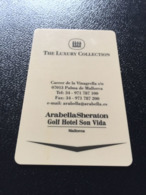 Hotelkarte Clef De Hotel Tarjeta Hotel Room Key  HOTEL ARABELLA SHERATON GOLF SON VIDA  CASINO MALLORCA - Télécartes