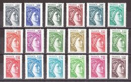 Gomme Tropicale Sur N° 1962 à 1979 - Neufs ** - Type Sabine - 1977-81 Sabine (Gandon)