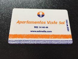 Hotelkarte Clef De Hotel Tarjeta Hotel Room Key  HOTEL APARTEMENTOS VISTA SOL CASINO MALLORCA - Phonecards