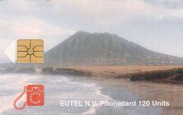 St. Eustatius - Eutel, EUS-E-07, The Quill, 2 Scans.    GEM1A (Symmetric Black) - Antilles (Neérlandaises)