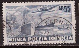 PIA - POLOGNE - 1952 : Posta Aerea - Aereo Che Sorvola Un Porto  - (Yv  P.A. 28) - Posta Aerea