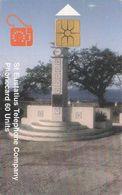 St. Eustatius - Eutel, EUS-E-08, Wilhelmina Monument, 2 Scans.    GEM1B (Not Symmetric White/Gold) - Antilles (Neérlandaises)