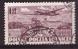 PIA - POLOGNE - 1952 : Posta Aerea - Aereo Che Sorvola Varsavia  - (Yv  P.A. 30) - Posta Aerea