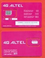 Kazakhstan. Plastic Card With A Sim-card.Phonecards Altel. New Card. - Kazajstán