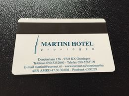 Hotelkarte Clef De Hotel Tarjeta Hotel Room Key  HOTEL  MARTINI GRONINGEN  HOLLAND CASINO - Phonecards