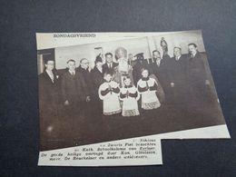 "Origineel Knipsel ( 5159 ) Uit Tijdschrift "" Zondagsvriend ""  1936 : Sint Niklaas  St. Nicolas  Sint Nikolaas   Berlaar - Vieux Papiers"