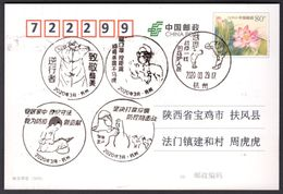 CHINA HangZhou COVID-19 Postmarks:Retrograde, Wear Mask, Thank Medical Staff, Stay Home, Win The Battle - Ziekte