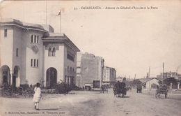 CPA MAROC @ CASABLANCA - Avenue Du Général D'Amade Et La Poste En 1924 - Casablanca