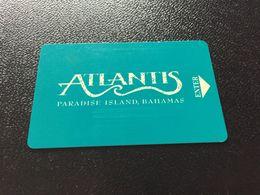 Hotelkarte Clef De Hotel Tarjeta Hotel Room Key  HOTEL  ATLANTIS PARADISE ISLAND  BAHAMAS - Phonecards