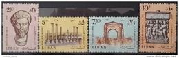E11vp - Lebanon 1968 Mi. 1045-1048 MNH - Ancient RomanRuis Of TYR - Liban