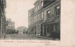 Grivegnée - Entrée De La Rue Haute à La Bonne Femme - Magasin De Chaussures - Vue Animée - 2 Scans - Elsenborn (camp)