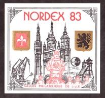 1983 - Feuillet CNEP N° 4A - Neuf ** - Salon Philatélique De Lille - NORDEX - 3ème Clocher Long Extrémité Avec Croix - CNEP