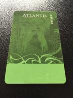 Hotelkarte Clef De Hotel Tarjeta Hotel Room Key  HOTEL  ATLANTIS PARADISE ISLAND  BAHAMAS Combination Slot Card - Phonecards