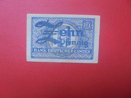 Bank Deutscher Länder 10 PFENNIG 1948 CIRCULER(B.17) - [ 7] 1949-… : RFA - Rep. Fed. Tedesca