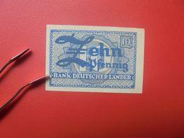 Bank Deutscher Länder 10 PFENNIG 1948 VARIETE !( Mit Weisser Unbedruckter Stelle In Höhe Des Banknamens) CIRCULER(B.17) - [ 7] 1949-… : RFD - Rep. Fed. Duitsland