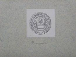Ex-libris Héraldique XIXème - BELGIQUE - VICTOR DE MUNTER - Louvain - Ex Libris