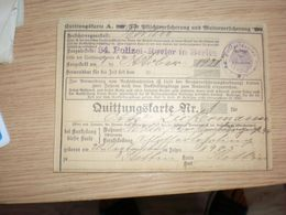 Quittungskarte  34 Polizei Revier In Berlin Berlin 1922 Berlin Sramps - Documents Historiques