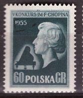 """PIA - POLONIA - 1955 : 5° Concorso Internazionale Di Piano """"Fréderic Chopin"""" A Varsavia  - (Yv  783) - 1944-.... Republic"""