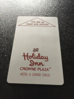 Hotelkarte Clef De Hotel Tarjeta Hotel Room Key  HOTEL HOLIDAY INN CROWNE PLAZA  CHEJU - Phonecards