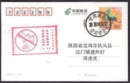 CHINA JiuQuan COVID-19 Postmark:Protect Wildlife,Fight COVID(Bats, Pangolins) - Ziekte
