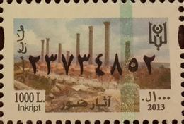Lebanon 2013 MNH Fiscal Revenue Stamp - 1000L Ruins Of Tyre - Sour - Roman Archeology - Liban