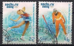 Serbien  (2014)  Mi.Nr.  541 + 542  Gest. / Used  (8gj52) - Inverno 2014: Sotchi