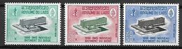 LAOS   -   1966.     Y&T N°131 à 133  *.   Siège De  L' O.M.S. - Laos