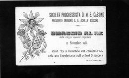 CG45 - Italia - Società Progressista Di M.S.Cassino - Omaggio Al Re - Militari