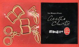 LIVRE DE POCHE  Ed. - AGATHA CHRISTIE - SERIE 5  MARQUE PAGE METAL DETOURE - Marque-Pages